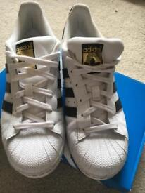 Adidas Superstar Trainers, Size 6, Good Condition