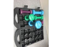 Weights set with box / portable - ARCHWAY - FINSBURY PARK - CROUCH HILL