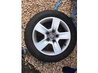 Audi alloys for sale 16inch with good tyres !
