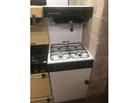 55CM WHITE/BROWN FLAVEL EYE LEVEL GAS COOKER