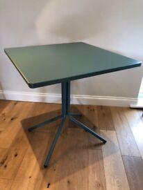 Made Nazca Folding Bistro Garden Table in Graphite Blue RRP £99