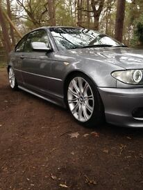 BMW e46 COUPE M SPORT 3 series / 77k mileage / halo's / custom exhaust