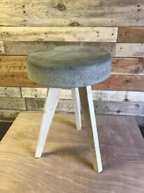 Cement & timber side table