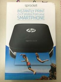 Brand New - HP Sprocket Photo Printer - Black