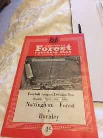 Nottm forest football programmes