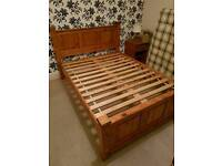 Solid wood pine double bed in excellent condition - can deliver