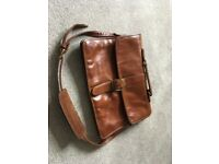 HiDesign Tan/Brown leather Briefcase