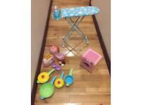 Child home play set-iron, toaster, kettle, washing machine