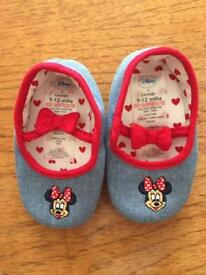 Bundle of (never been worn) girls shoes and socks (6-12 months)