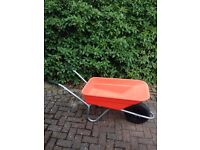 Wheel Barrow, only used once. 6 months old. Plastic body pneumatic tyre.