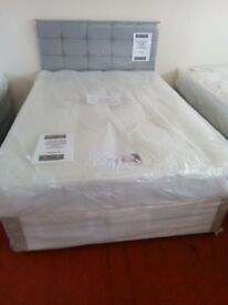 New Myer Adams Edinburgh End Drawer Double Bed with Mattress.