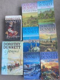 Set of 8 Dorothy Dunnett Historical Novels