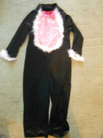 Velour cat dress-up outfit, age 5-6 years.
