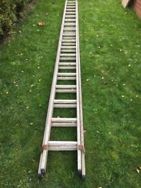 Double extending ladder 5 metres