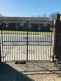 Double iron gates