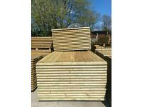 *New* Feather Edge Straight Top Tanalised Wooden Garden Fence Panels