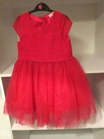 TED BAKER Dress!! Beautiful Red Party Dress Age 5/6