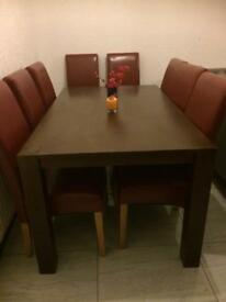 Large solid oak dining table only