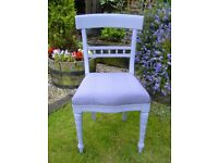 Wooden bedroom / dining chair in grey
