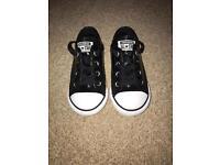 Black glitter All Star Converse toddler size 6