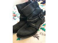 French connection black boots, size 7.