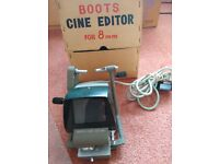 BOOTS CINE EDITOR for 8mm standard