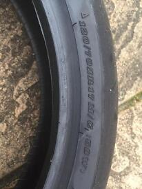 Motor bike tyre