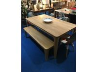 Ebbe Gehl -Mira 6 Seater Dining Table and 3 person Dining Bench