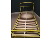 Yellow single bed frame