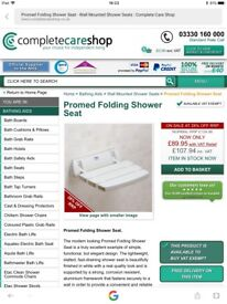 Shower Seat - folding & Rail