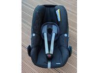 Used Maxi-Cosi Pebble Group 0+ Baby Car Seat, Black