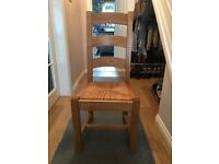 Six Solid Oak Dining Chairs in excellent condition