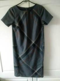 Tartan shift dress