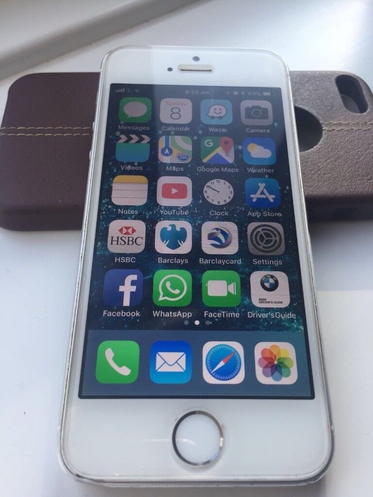 APPLE IPHONE 5S - 16GB - FACTORY UNLOCKED TO ALL NETWORK - SMART PHONE - EXCELLENT CONDITION