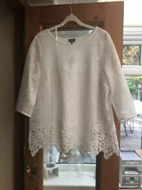 Size 16 white lacey top