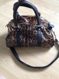 Topshop leopard print bag