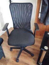 Black mesh computer chair