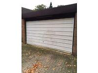 Double up and over metal garage door