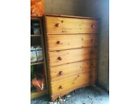 Chest of drawers (with a bit of damage)