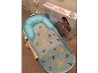 Newborn baby bath support as new