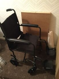 Foldable wheelchair only used once