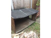 Old chicken coupe converted to log store, free on collection