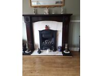 MARBLE HARTH AND BACK. Surround and fireplace included. Available from 7th July.