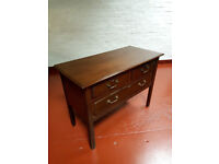 Antique Edwardian Mahogany Dresser made for Liberty Chest of Drawers Desk