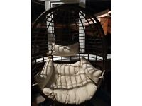 Egg style conservatory chairs x 2