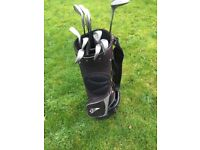 Regency golf clubs left handed with bag