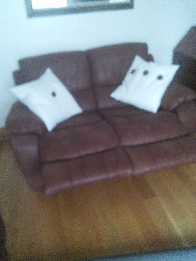 3 seater and 2 seater reclining sofas.