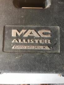 MAC Allister Heavy Duty Drill in Original Box with Drill Bits