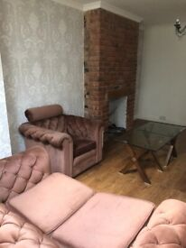 Sofa set and dining table with 5 chairs