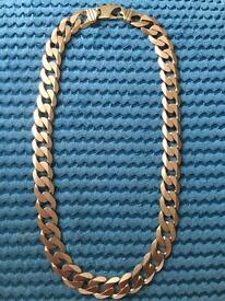 VERY HEAVY 9ct gold curb chain